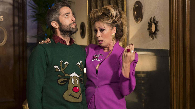 Roberto Leal y Miriam Díaz-Aroca en 'Telepasión'. (TVE)