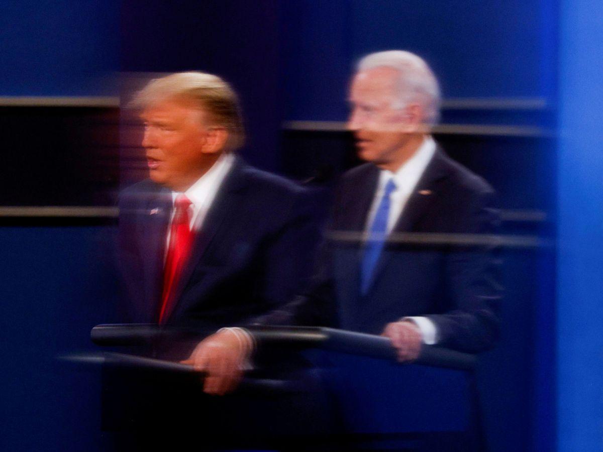 Foto: Trump y Biden, durante el debate electoral. (Reuters)