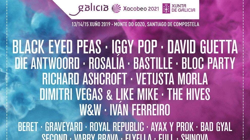 Black Eyed Peas, Iggy Pop, David Guetta y Rosalía estarán el el O Son Do Camiño 2019