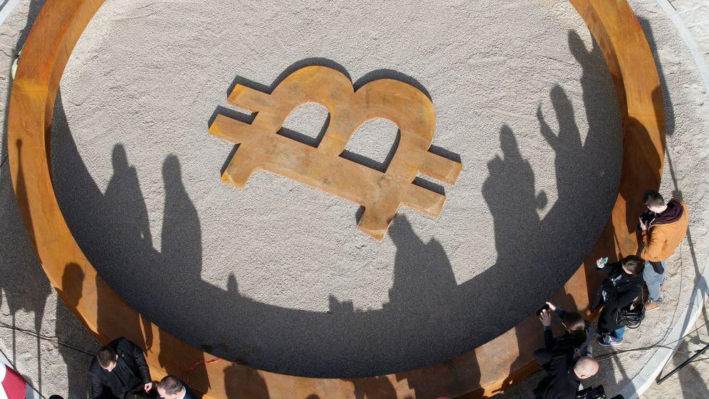 Foto: 'Monumento' al bitcoin. (Reuters)