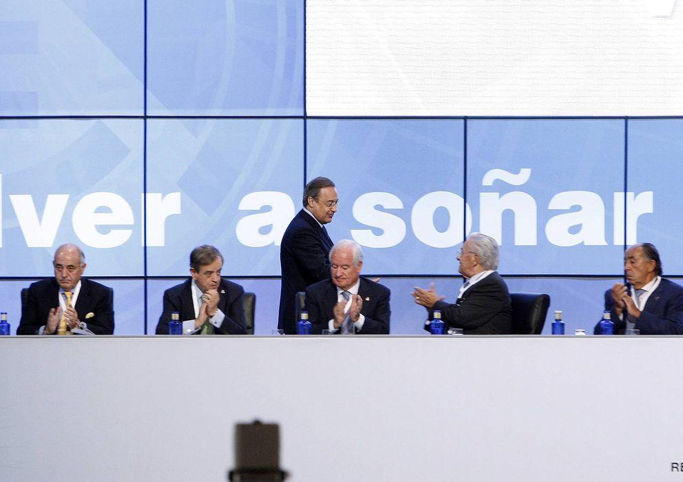 Foto: Florentino en una de las asambleas del Real Madrid (Efe).