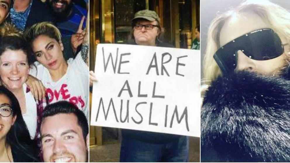 Lady Gaga, Madonna y Michael Moore se unen a las protestas anti-Trump