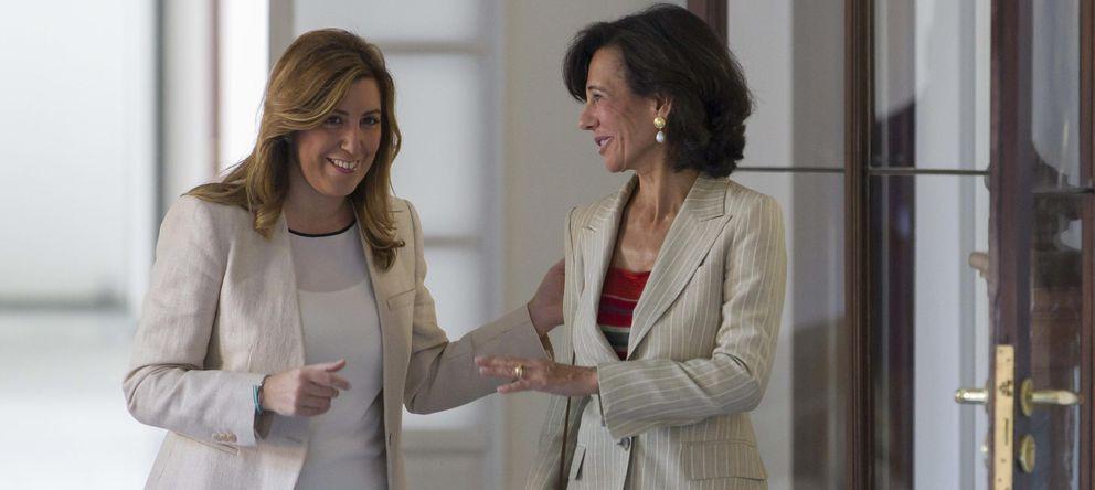 Foto: Susana Díaz y Ana Patricia Botín se reúnen en Sevilla. (EFE)