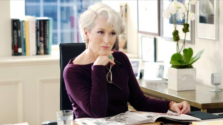 Meryl Streep, en la película 'El diablo viste de Prada'. (Cortesía)