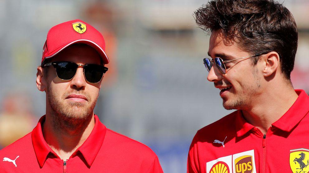 Ferrari es la casa de los líos con Leclerc y Vettel y cómo Hamilton les birló la cartera