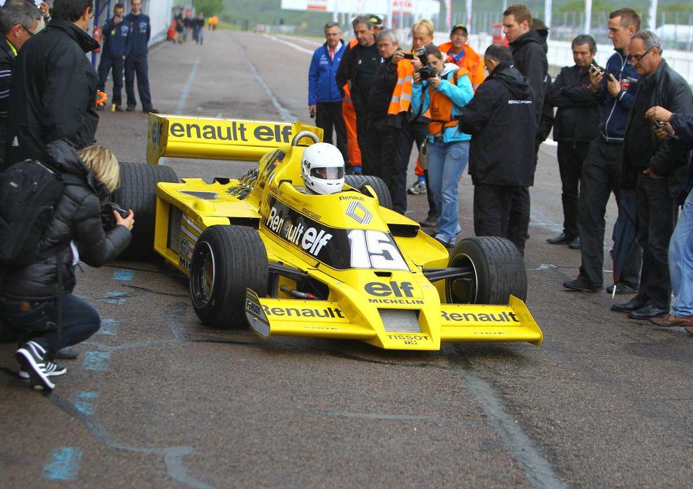 Foto: El Renault F1 RS01 sigue luciendo amarillo treinta años después de su estreno en las pistas.