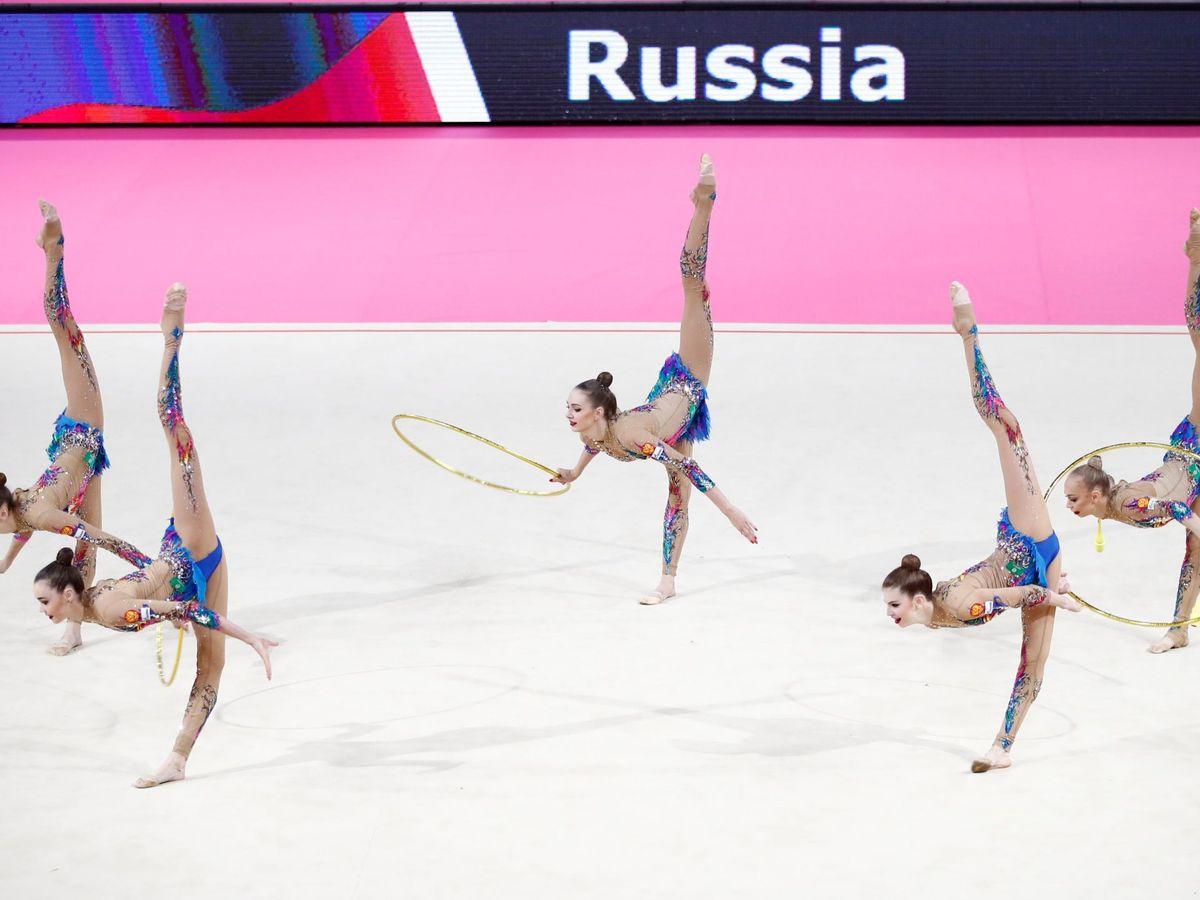 Foto: El equipo de Rusia de gimnasia rítmica, un clásico de los JJOO. (EFE)