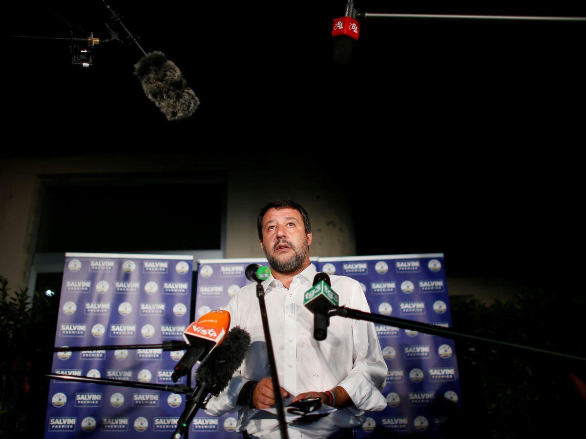 Foto: Salvini habla ante los medios en Milán el pasado 'superdomingo'. (Reuters)