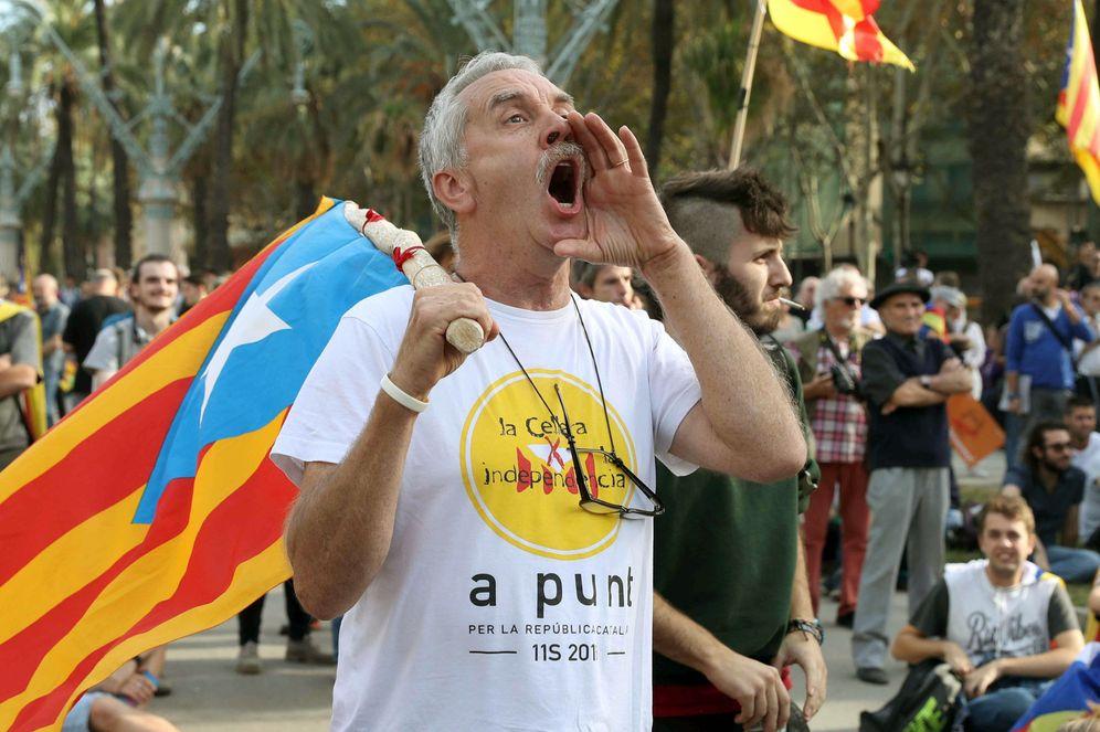 Foto: Ambiente en una concentración por la independencia. (EFE)