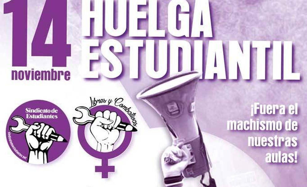 Foto: Con este cartel ha llamado a la huelga el Sindicato de Estudiantes.