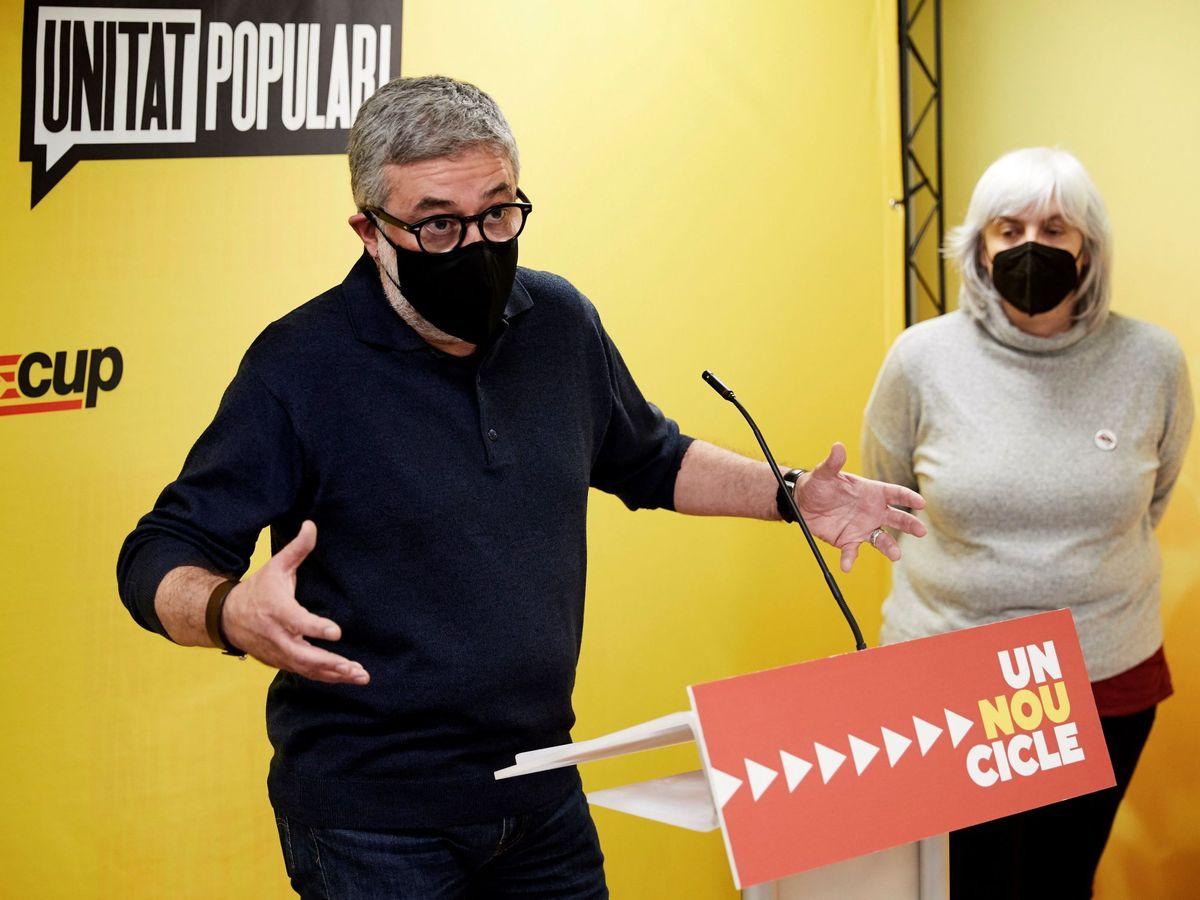 Foto: Carles Riera en una rueda de prensa. (EFE)