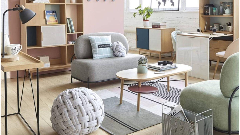 Ideas para un salón pequeño de Maisons du Monde. (Cortesía)