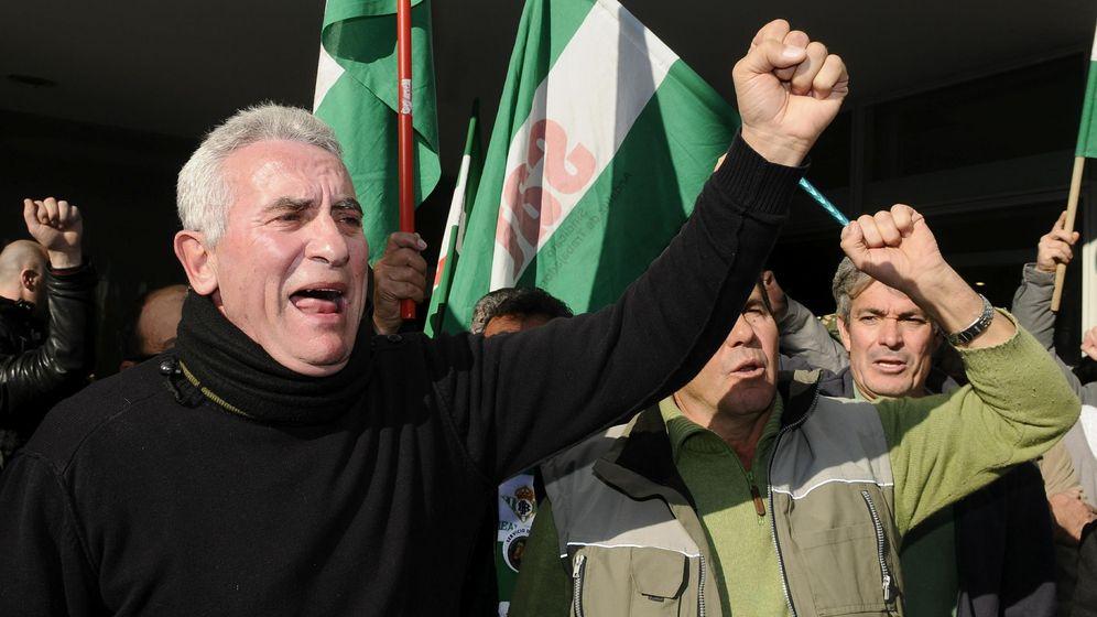 Foto: Diego Cañamero, detenido en Jaén para que declare ante el juez (Efe).