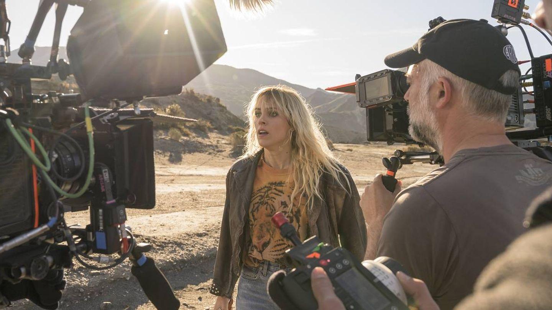 Maggie Civantos rodando 'Vis a vis: el oasis'. (Virginia Martín Chico)