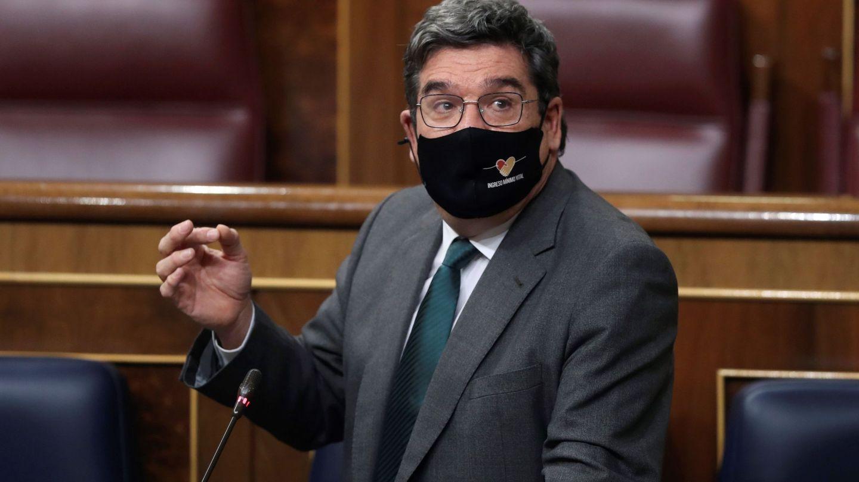 El ministro de Seguridad Social, José Luis Escrivá, en el Congreso. (EFE)