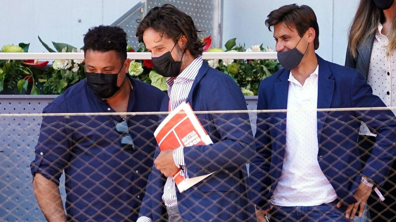 Ronaldo Nazario, Feliciano Lopez y David Ferrer. (CP)