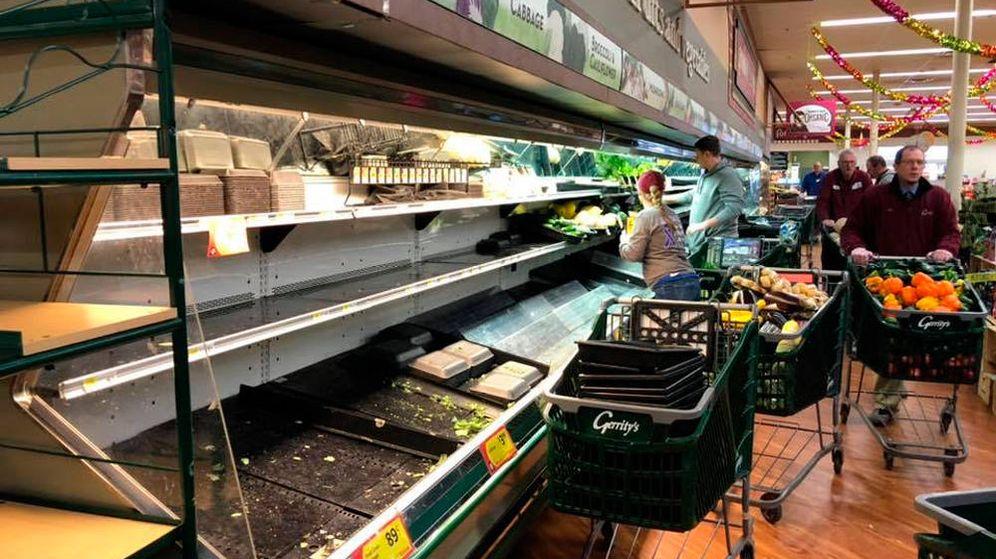 Foto: Así quedaron las estanterías de los productos frescos de Gerrity's (Foto: Facebook)