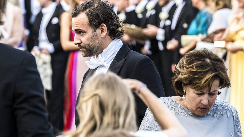Jonas Bergström durante la boda. (CP)