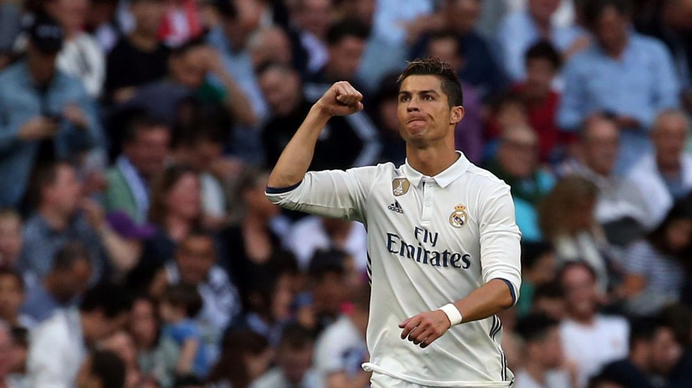 Foto: Cristiano Ronaldo celebra un gol en un partido. (Reuters)