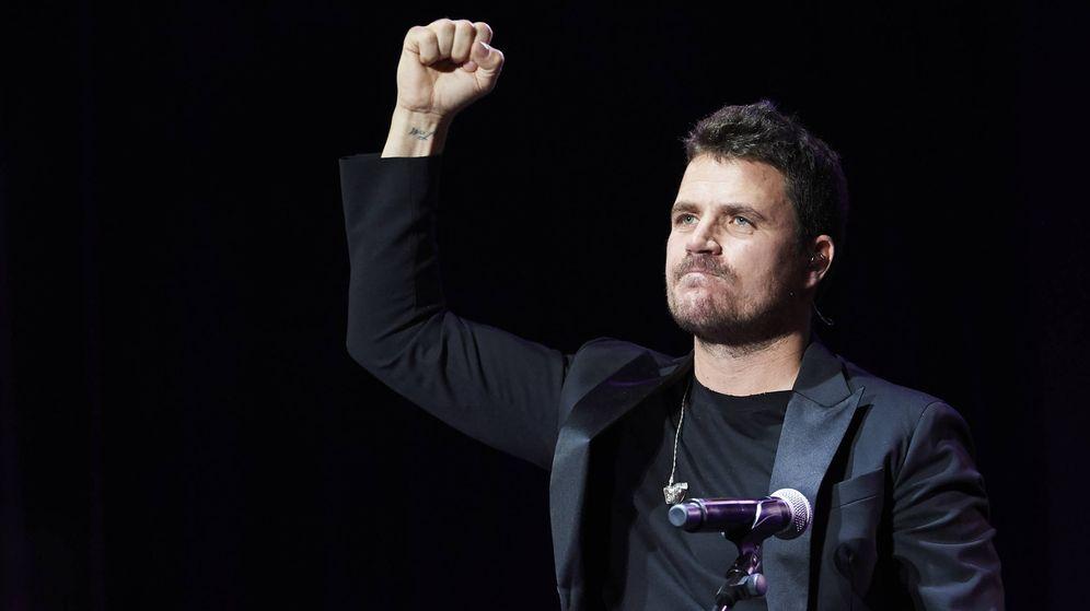 Foto: Dani Martín, durante un concierto el pasado mes de diciembre. (Getty)