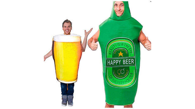 Disfraces de jarra de cerveza y botellín de cerveza