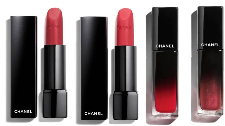 Rouge Allure Velvet Extrême y Rouge Allure Laque. (Chanel)