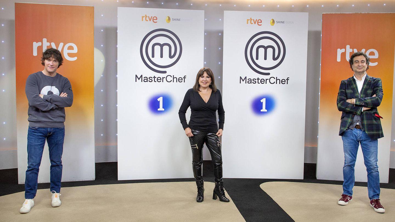 El jurado de 'MasterChef Abuelos', con Loles León en lugar de Samantha. (TVE)