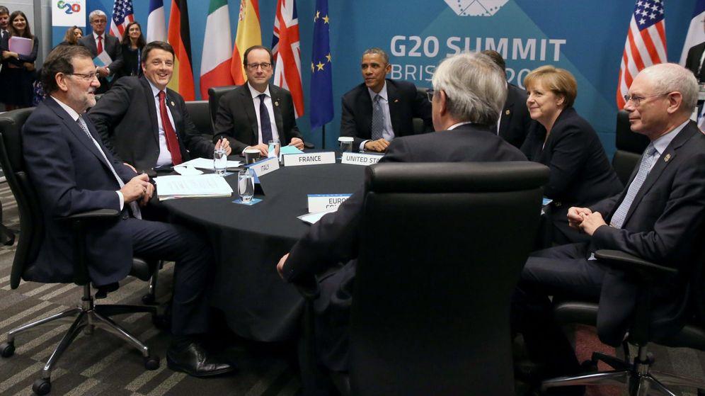 Foto: El presidente Mariano Rajoy (i) junto a su homólogo italiano Matteo Renzi (2i), el presidente francés Francois Hollande (3i) y la canciller alemana Angela Merkel (2d) en una imagen de archivo. (EFE)
