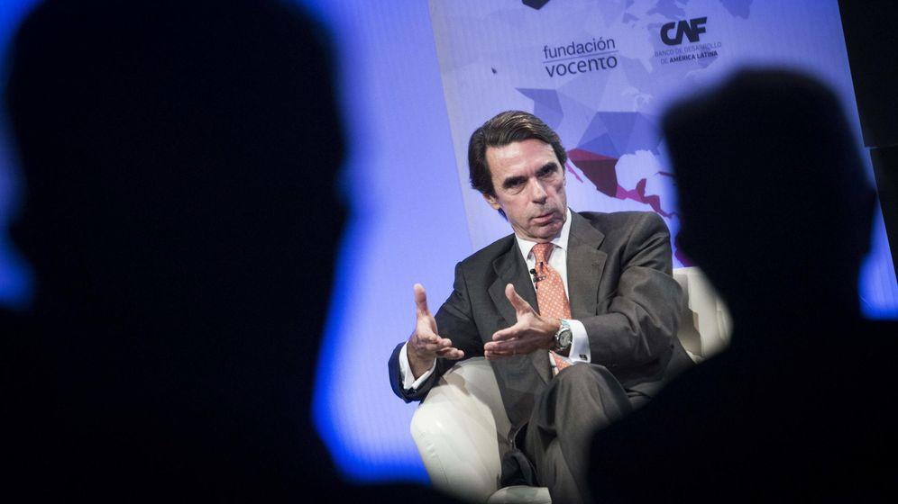 Foto: El expresidente del Gobierno José María Aznar este lunes durante su participación en una charla-coloquio en Madrid. (Efe)