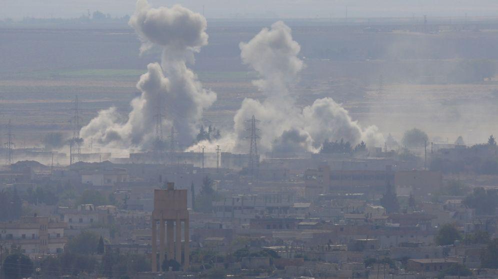 Foto: La ciudad siria Ras al-Ain después de los ataques. (Reuters)