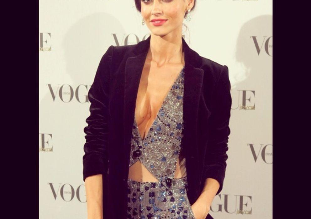 Foto: Ariadne Artiles, durante los Premios Vogue Joyas 2013 (I.C.)