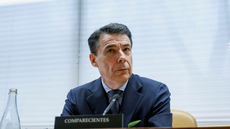 El expresidente de la Comunidad de Madrid, Ignacio González, durante su comparecencia este viernes en la comisión de investigación. EFE