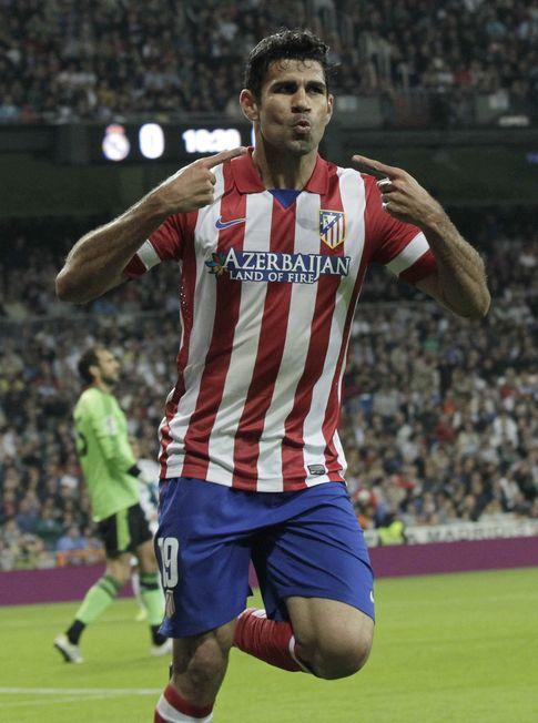 Foto: Diego Costa celebra un gol con el Atlético de Madrid (Efe).
