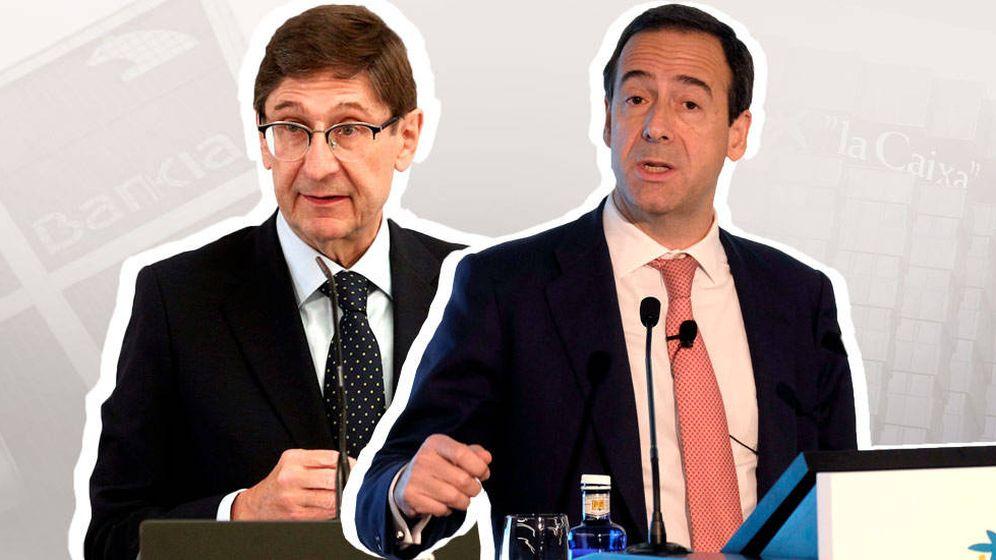 Foto: José Ignacio Goirigolzarri, presidente de Bankia, y Gonzalo Gortázar, CEO de CaixaBank. (EC)