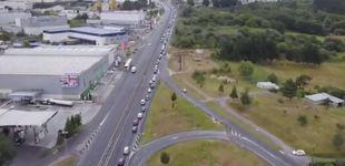 Post de Una caravana de 16 km de coches contra el cierre de Alcoa en San Cibrao (Lugo)