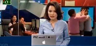Post de Esta presentadora se gana el sueldo: ni pestañea durante una pelea en directo