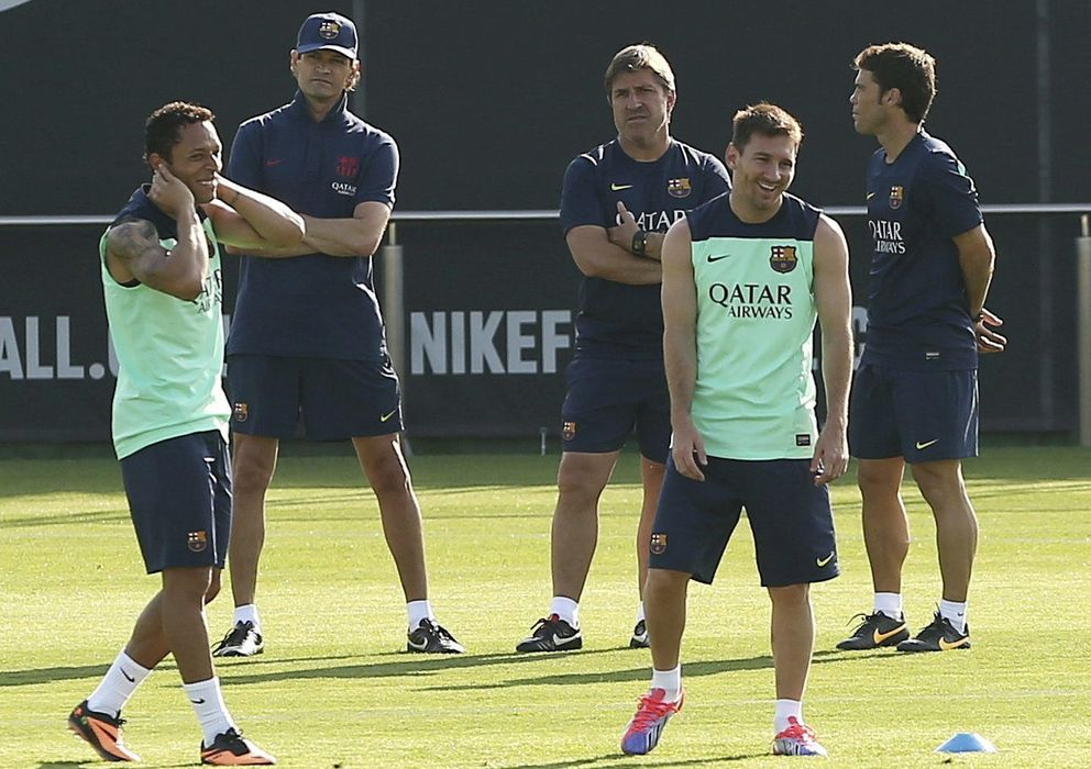 Foto: Tito Vilanova, durante un entrenamiento del Barcelona (EFE)