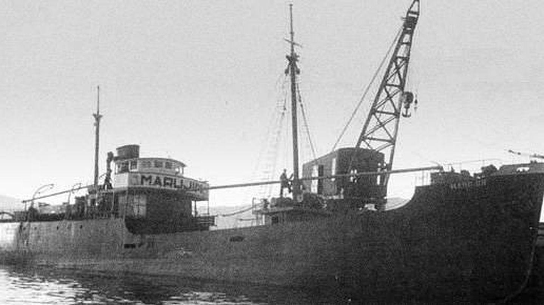 El primer buque construido por Factoría Vulcano en 1948. (Foto: Factorías Vulcano)
