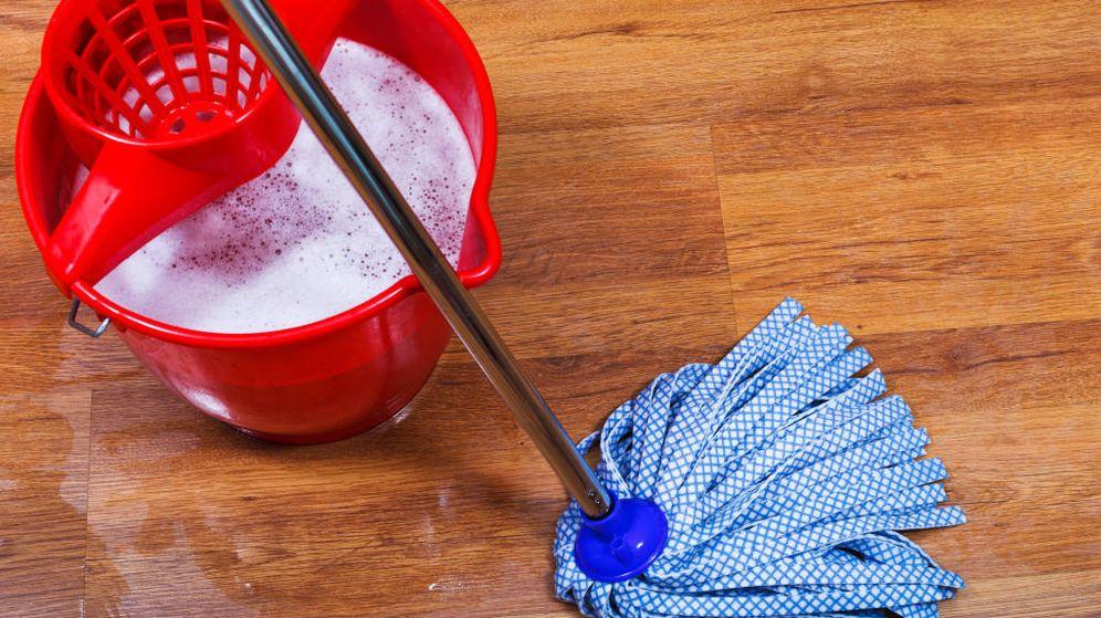 Foto: Fregona con limpiador multiusos
