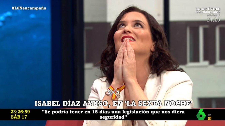 Isabel Díaz Ayuso reta a Iñaki López por esta afirmación en 'La Sexta noche'