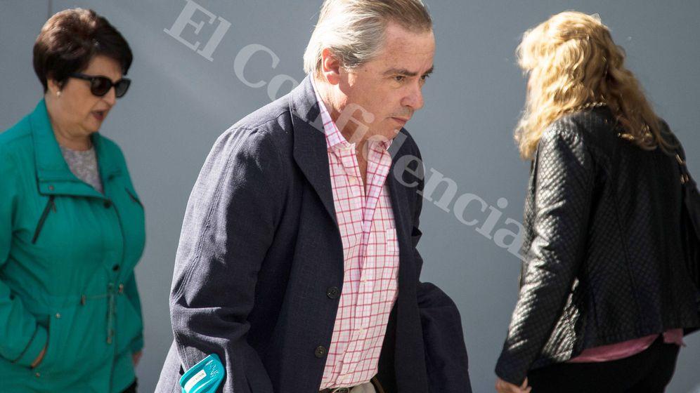 Foto: José María Aristrain de la Cruz, a su llegada al juzgado. (Fernando Ruso)