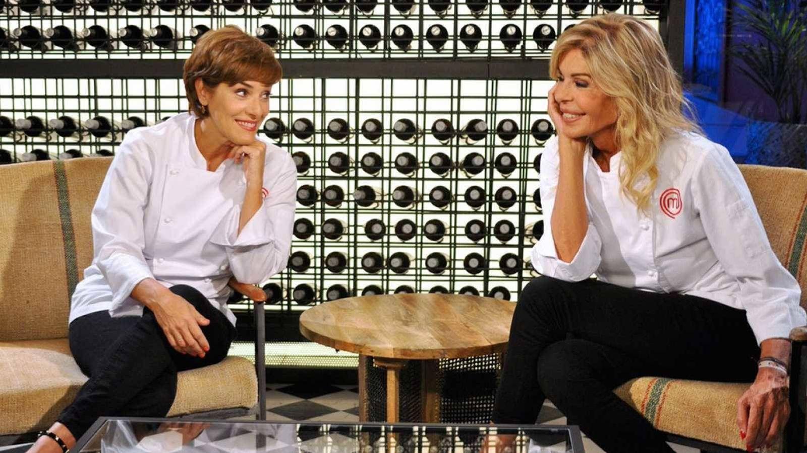 Foto: Anabel Alonso y Bibiana Fernández, en 'Masterchef'. (RTVE)