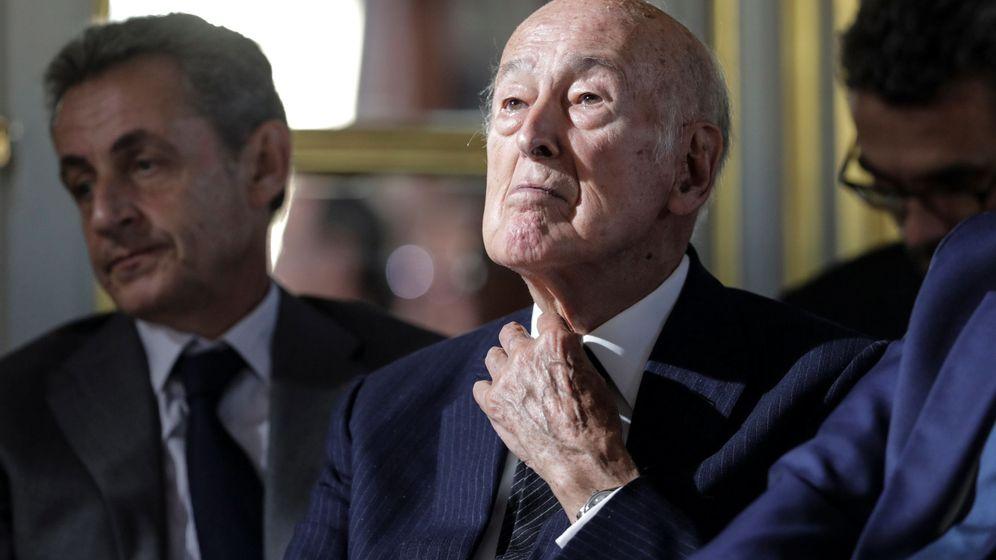 Foto: Valery Giscard d'Estaing y Nicolas Sarkozy en una foto de archivo (Reuters)