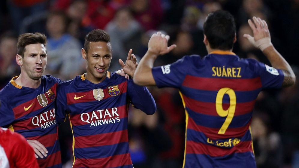 Foto: Messi, Neymar y Luis Suárez marcaron ante el Athletic. (EFE)