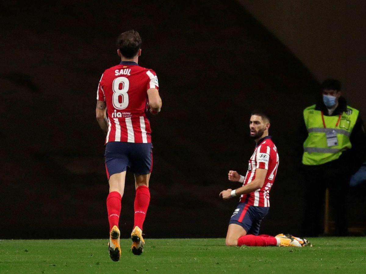 Foto: Carrasco anotó el gol de la victoria del Atlético. (EFE)