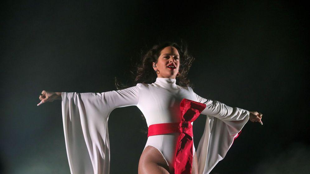 Foto: Rosalía durante su concierto de final de gira en Madrid (Efe)