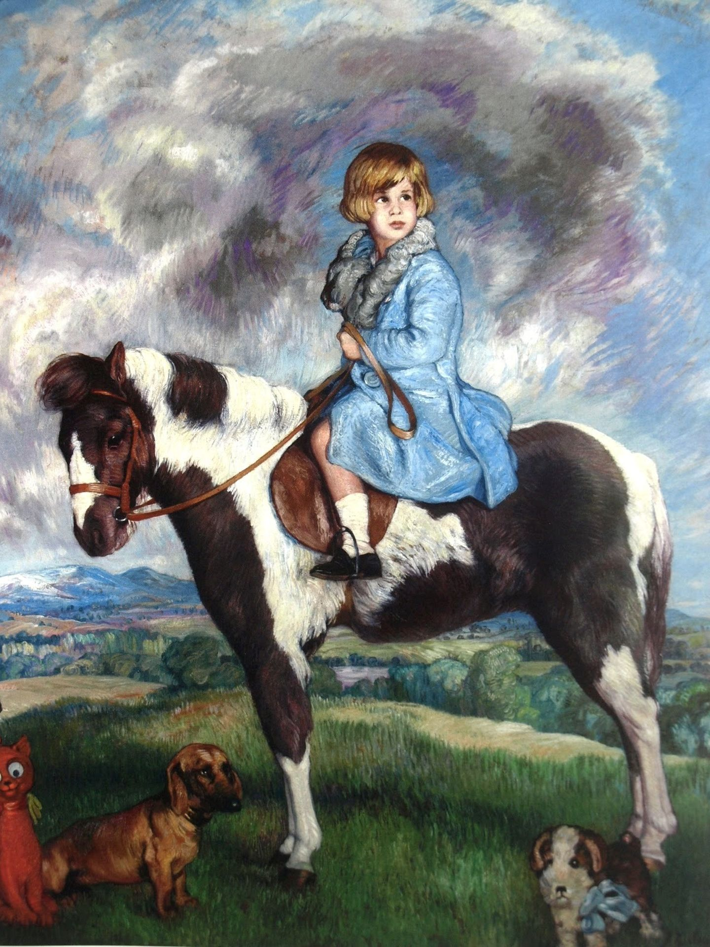 Retratada con 4 años montada en su pony preferido