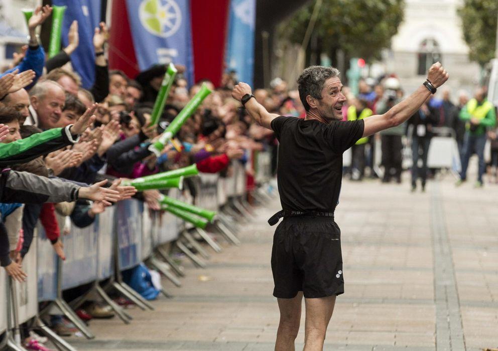Foto: Martín Fiz, uno de nuestros mejores maratonianos, sigue mejorando. (Efe)