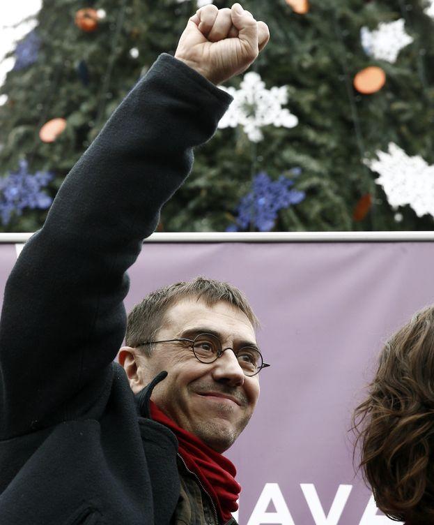 Foto: Juan Carlos Monedero en un acto de campaña. (EFE)