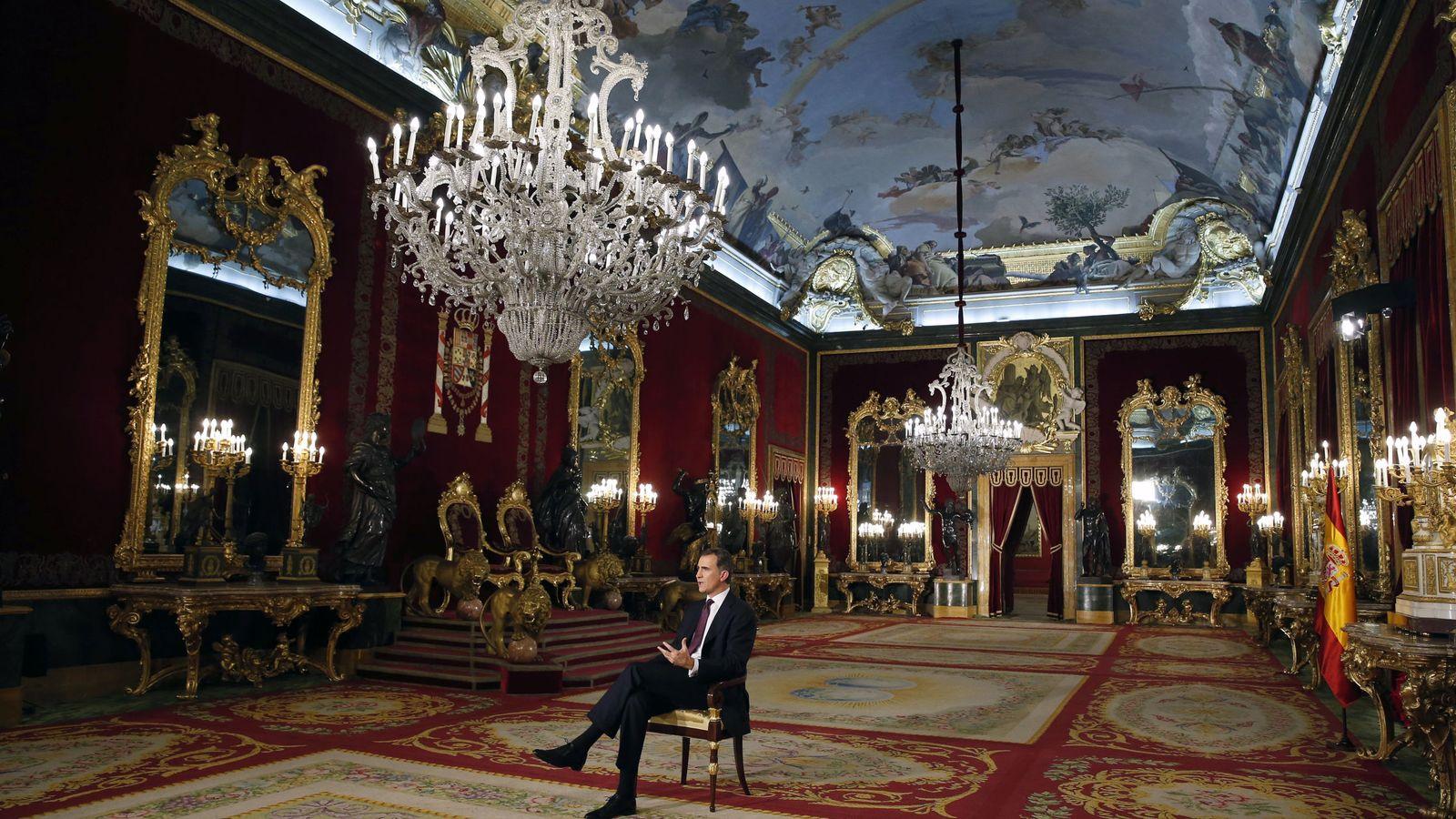 Foto: El Rey durante el discurso de Navidad. (EFE)